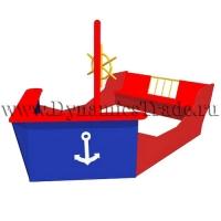 """Песочница """"Кораблик со штурвалом"""""""